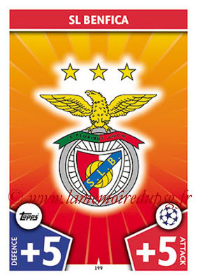 2017-18 - Topps UEFA Champions League Match Attax - N° 199 - Logo SL Benfica (Club Badge)
