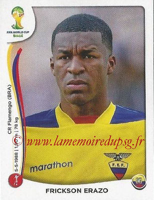 2014 - Panini FIFA World Cup Brazil Stickers - N° 359 - Frickson ERAZO (Equateur)