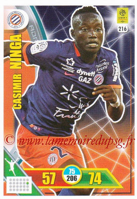 2017-18 - Panini Adrenalyn XL Ligue 1 - N° 216 - Casimir NINGA (Montpellier)