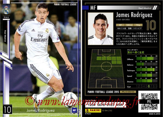 Panini Football League 2015 - PFL10 - N° 035 - James RODRIGUEZ (Real Madrid)