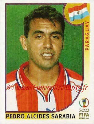 2002 - Panini FIFA World Cup Stickers - N° 139 - Pedro ALCIDES SARABIA (Paraguay)