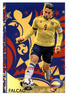 Panini Copa America Centenario USA 2016 Stickers - N° 410 - FALCAO (Colombie) (En action)