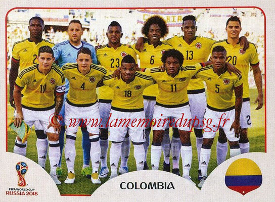 2018 - Panini FIFA World Cup Russia Stickers - N° 633 - Equipe Colombie