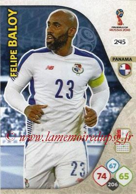 2018 - Panini FIFA World Cup Russia Adrenalyn XL - N° 245 - Felipe BALOY (Panama)