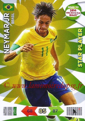 2014 - Panini Road to FIFA World Cup Brazil Adrenalyn XL - N° 025 - NEYMAR JR (Brésil) (Star Player)
