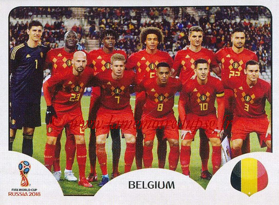 2018 - Panini FIFA World Cup Russia Stickers - N° 513 - Equipe Belgique