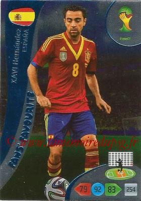2014 - Panini FIFA World Cup Brazil Adrenalyn XL - N° 337 - Xavi HERNANDEZ (Espagne) (Fan's favorite)