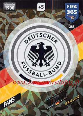 2017-18 - Panini FIFA 365 Cards - N° 388 - Logo Allemagne (Team Logo)