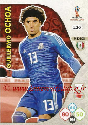 2018 - Panini FIFA World Cup Russia Adrenalyn XL - N° 226 - Guillermo OCHOA (Mexique)