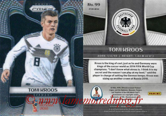 2018 - Panini Prizm FIFA World Cup Russia - N° 099 - Toni KROOS (Allemagne)