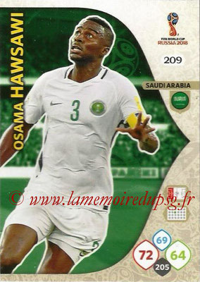 2018 - Panini FIFA World Cup Russia Adrenalyn XL - N° 209 - Osama HAWSAWI (Arabie Saoudite)