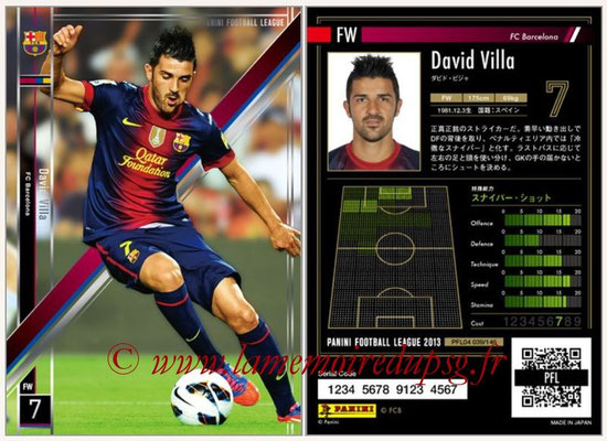 Panini Football League 2013 - PFL04 - N° 039 - David VILLA (FC Barcelone)
