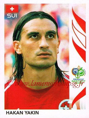 2006 - Panini FIFA World Cup Germany Stickers - N° 487 - Hakan YAKIN (Suisse)
