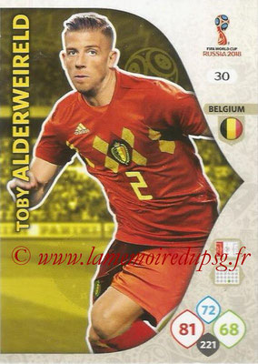 2018 - Panini FIFA World Cup Russia Adrenalyn XL - N° 030 - Toby ALDERWEIRELD (Belgique)