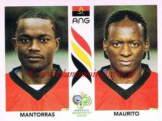 2006 - Panini FIFA World Cup Germany Stickers - N° 310 - MANTORRAS + MAURITO (Angola)