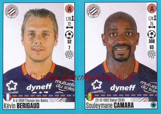 2016-17 - Panini Ligue 1 Stickers - N° 544 + 545 - Kévin BERIGAUD + Souleymane CAMARA (Montpellier)