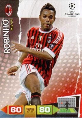 2011-12 - Panini Champions League Cards - N° 171 - ROBINHO (Milan AC)