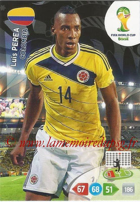 2014 - Panini FIFA World Cup Brazil Adrenalyn XL - N° 080 - Luis PEREA (Colombie)
