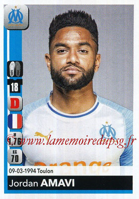 2018-19 - Panini Ligue 1 Stickers - N° 204 - Jordan AMAVI (Marseille)