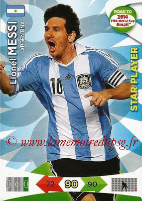 2014 - Panini Road to FIFA World Cup Brazil Adrenalyn XL - N° 009 - Lionel MESSI (Argentine) (Star Player)