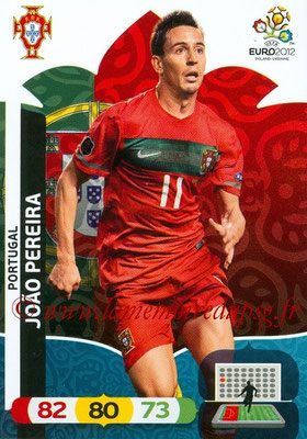 Panini Euro 2012 Cards Adrenalyn XL - N° 168 - Joao PEREIRA (Portugal)