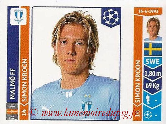2014-15 - Panini Champions League N° 096 - Simon KROON (Malmö FF)