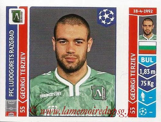2014-15 - Panini Champions League N° 165 - Georgi TERZIEV (Ludogorets Razgrad)