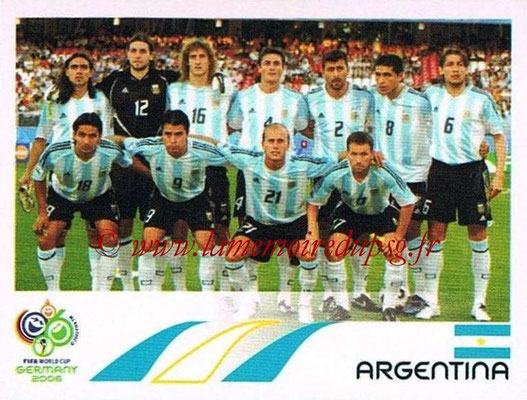 2006 - Panini FIFA World Cup Germany Stickers - N° 169 - Équipe Argentine