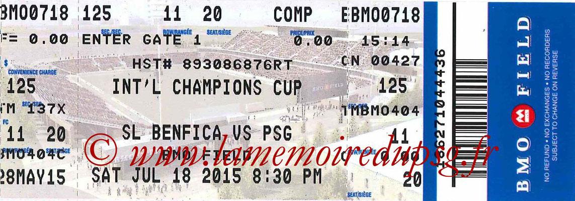 Ticket  Benfica-PSG  2015-16