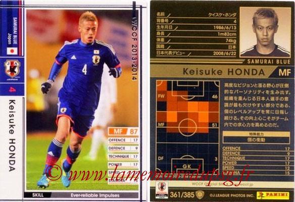 2013-14 - WCCF - N° 361 - Keisuke HONDA (Japon)