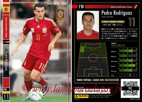 Panini Football League 2014 - PFL08 - N° 126 - Pedro RODRIGUEZ (Espagne)