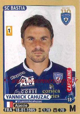 2015-16 - Panini Ligue 1 Stickers - N° 061 - Yannick CAHUZAC (SC Bastia) (Capitaine)