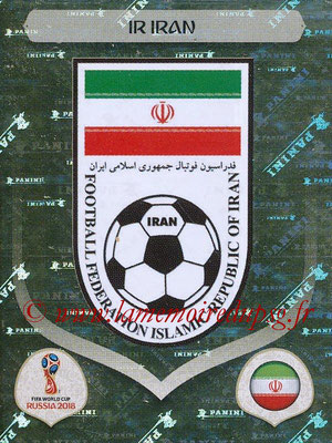 2018 - Panini FIFA World Cup Russia Stickers - N° 172 - Ecusson Iran