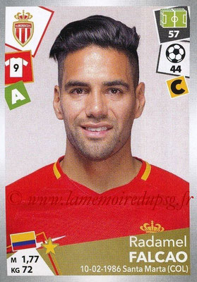 2017-18 - Panini Ligue 1 Stickers - N° 278 - Radamel FALCAO (Monaco)