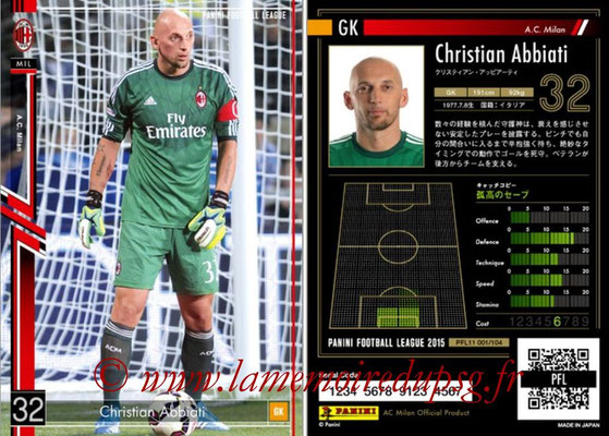 Panini Football League 2015 - PFL11 - N° 001 - Christian ABBIATI (Milan AC)