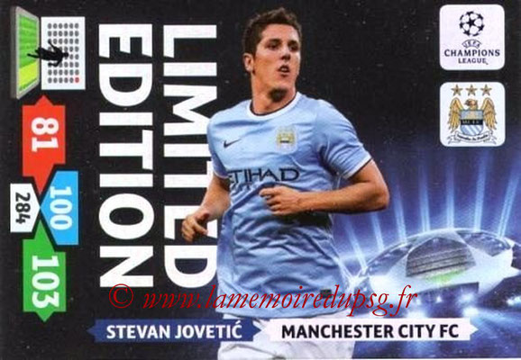 2013-14 - Adrenalyn XL champions League N° LE34 - Stevan JOVETIC (Manchester City FC) (Limited Edition)