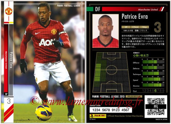 Panini Football League 2013 - PFL03 - N° 057 - Patrice Evra (Manchester United)