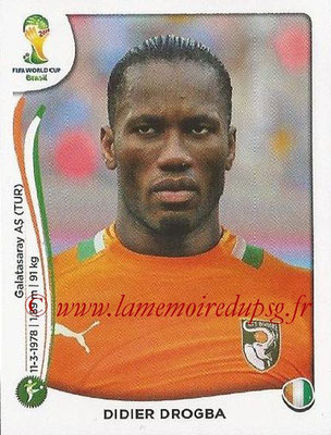 2014 - Panini FIFA World Cup Brazil Stickers - N° 240 - Didier DROGBA (Côte d'Ivoire)