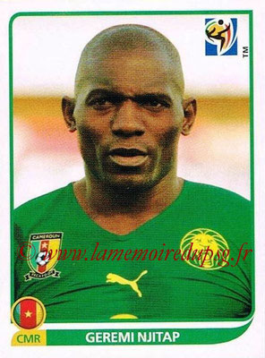 2010 - Panini FIFA World Cup South Africa Stickers - N° 396 - Geremi NJITAP (Cameroun)
