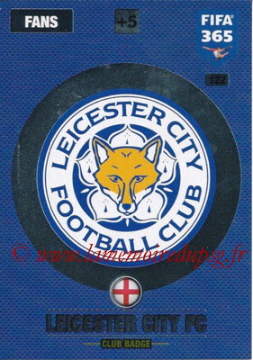 2016-17 - Panini Adrenalyn XL FIFA 365 - N° 122 - Logo Leicester City FC (Bagde Club)