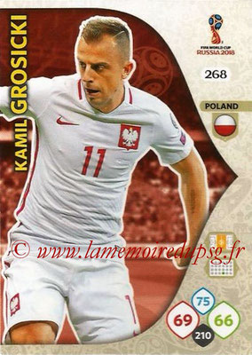 2018 - Panini FIFA World Cup Russia Adrenalyn XL - N° 268 - Kamil GROSICKI (Pologne)