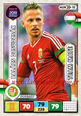2018 - Panini Road to FIFA World Cup Russia Adrenalyn XL - N° HUN10 - Balazs DZSUDZSAK (Hongrie)
