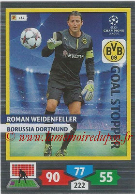 2013-14 - Adrenalyn XL champions League N° 322 - Roman WEIDENFELLER (Borussia Dortmund) (Goal Stopper)