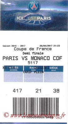 Tickets  PSG-Monaco  2016-17