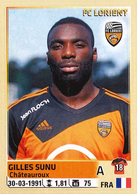 2014-15 - Panini Ligue 1 Stickers - N° 190 - Gilles SUNU (FC Lorient)