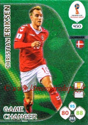 2018 - Panini FIFA World Cup Russia Adrenalyn XL - N° 450 - Chrstian ERIKSEN (Danemark) (Game Changer)