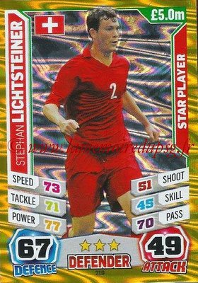 Topps Match Attax England 2014 - N° 219 - Stephan LICHTSTEINER (Suisse) (Star Player)