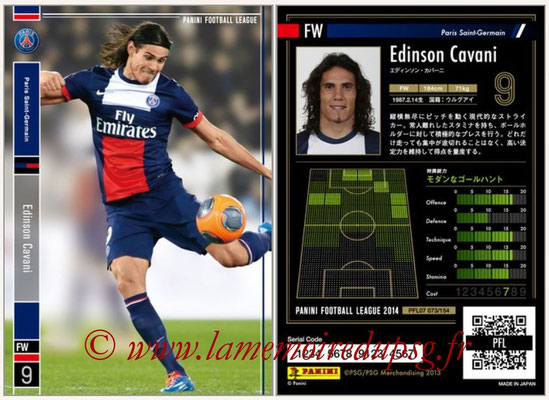 Panini Football League 2014 - PFL07 - N° 073 - Edinson CAVANI (Paris Saint-Germain)