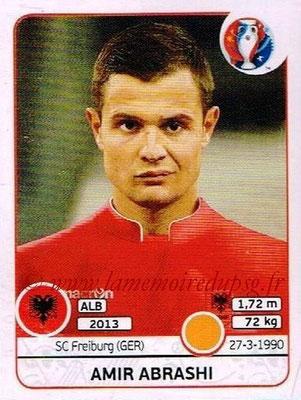 Panini Euro 2016 Stickers - N° 077 - Amir ABRASHI (Albanie)