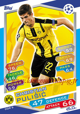 2016-17 - Topps UEFA Champions League Match Attax - N° DOR9 - Christian PULISIC (Borussia Dortmund)